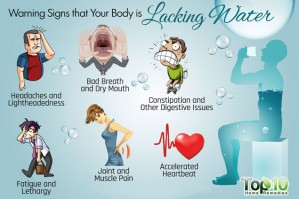 Ten Warning Signs that Your Body Is Lacking Water